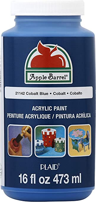 Amazon Com Apple Barrel Acrylic Paint In Assorted Colors 16 Ounce 21142 Cobalt Blue