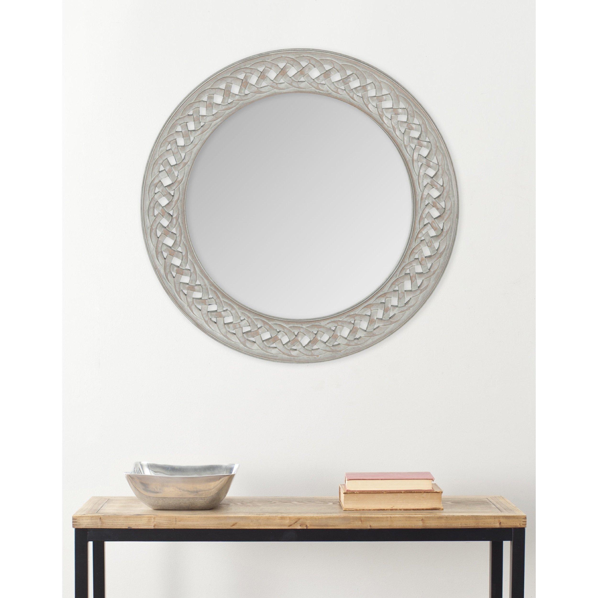 Safavieh Home Collection Braided Chain Mirror, Grey