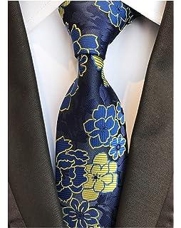 60e31a496e8e Elfeves Men's Floral Ties Jacquard Woven Slim Luxury Formal Party Suit  Neckties