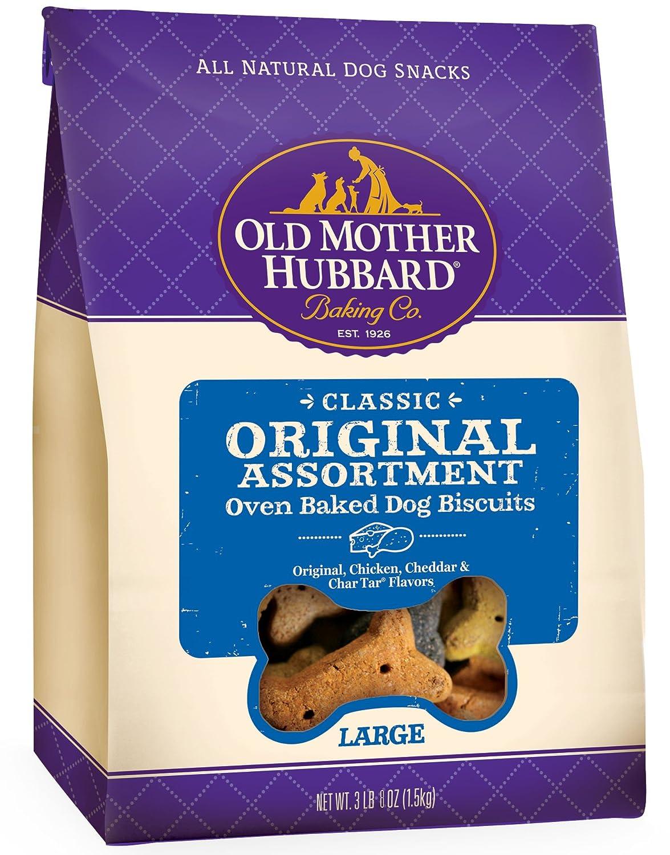 Old Mother Hubbard Classic Crunchy Natural Dog Treats, Original Assortment Large Biscuits, 3.5-Pound Bag