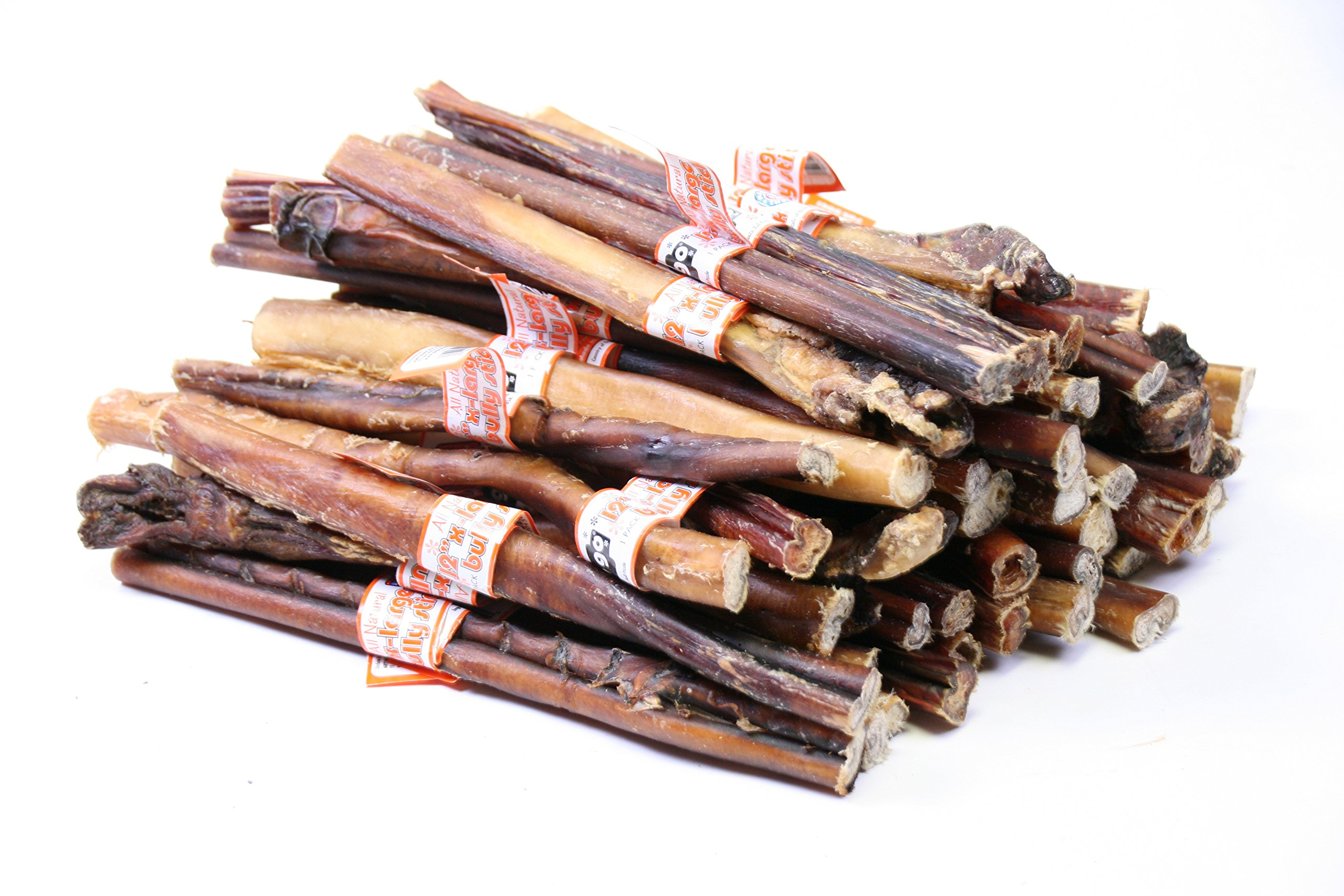 GoGo Pet All Natural Giant 12'' Inch USA Bully Stick - XL (75 pack) by GoGo Pet Products