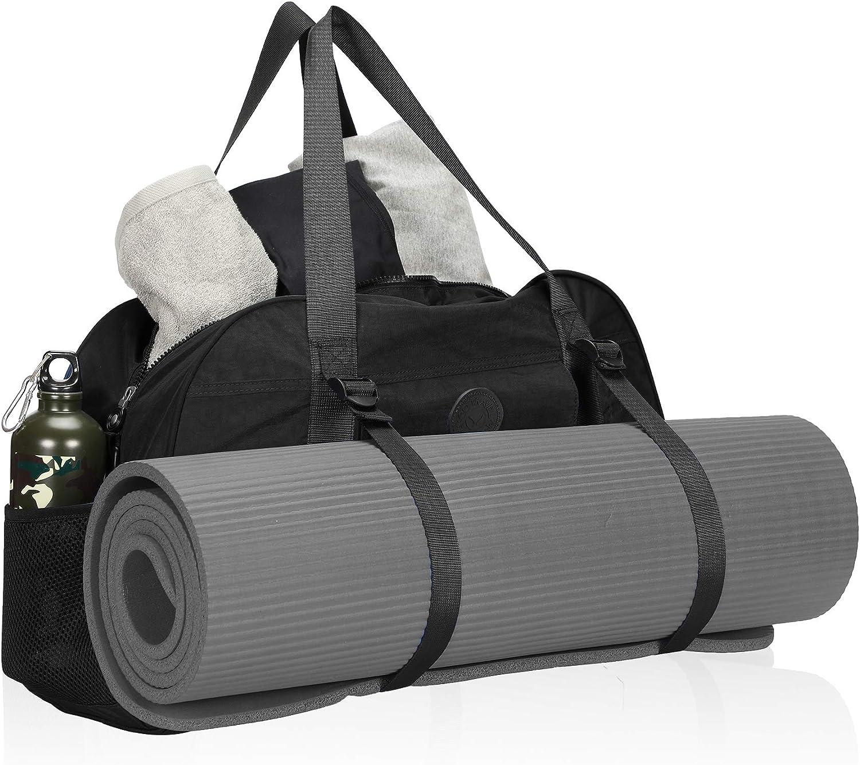 Hynes Eagle Yoga Mat Bag Sport Duffel for Gym Travel Bag 35L Black 2018