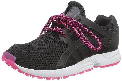 Racer Lite W, Zapatillas de Deporte Para Mujer, Negro/Rosa (Negbas/Negbas/Rosimp), 40 2/3 EU adidas