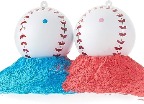 D&B Género del bebé Revela Pelotas de béisbol Rosa y Blue Balls ...