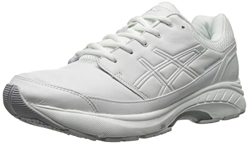 e51cf05da6 ASICS Men's Gel-Foundation® Workplace Walking ShoeWalking Shoe,  White/Silver, 10