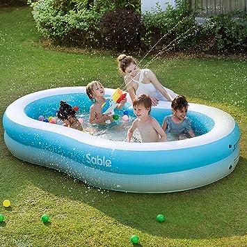 Sable - Piscina Hinchable para niños y Adultos para la Familia ...