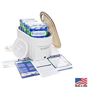 Therabath Professional Thermotherapy Paraffin Bath - Arthritis Treatment Relieves Muscle Stiffness - For Hands, Feet, Face and Body - 6 lbs of Paraffin Wax (ScentFree)