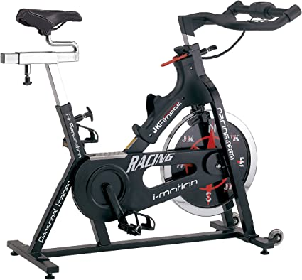 Jk Fitness Racing Spin Bike Transmisión a Cadena, Negro: Amazon.es ...