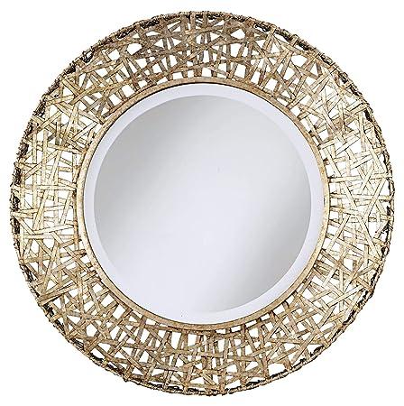 Uttermost Alita Mirror 3 x 32 x 32, Champagne, 32.3 L x 32.3 W x 3.0 D,
