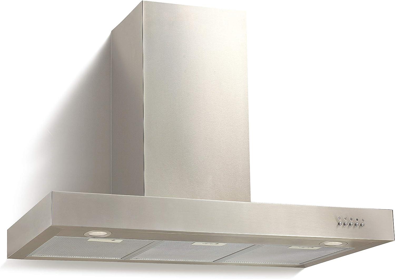 respekta - Campana extractora (acero inoxidable, 90 cm): Amazon.es: Grandes electrodomésticos