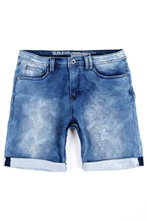 fa7bfc22df39 Joggjeans Jeans Kurze Hose Shorts Sublevel Sweat Denim Bermuda Herren Jogger  Blue Jeans W29-W38