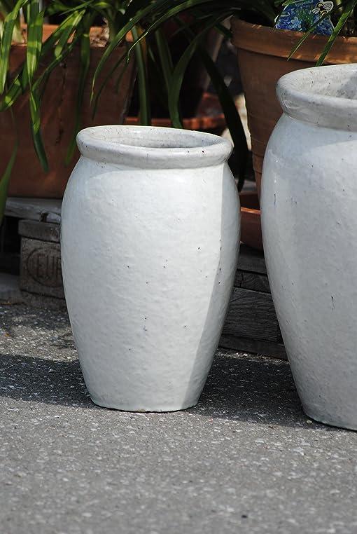Pflanzkübel,Vase,antik-weiß,frostfest!!!!! (40cm): Amazon.de: Garten