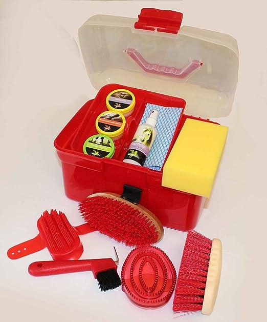 Caja de Limpieza para Caballos, Caja de Limpieza para niños R O T, Mini Incl. 6 Piezas de Limpieza + 4 Piezas de Cuidado/Accesorios + paño.: Amazon.es: Productos para mascotas