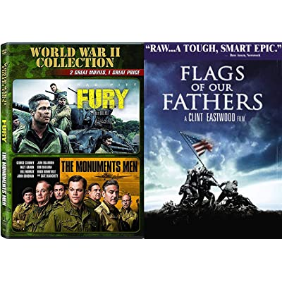 Buy Crew Of War Clint Eastwood Flags Of Our Fathers Fury Dvd Brad Pitt Monuments Of Men George Clooney Film Collection Triple Feature Online In Indonesia B08nv5y4h9