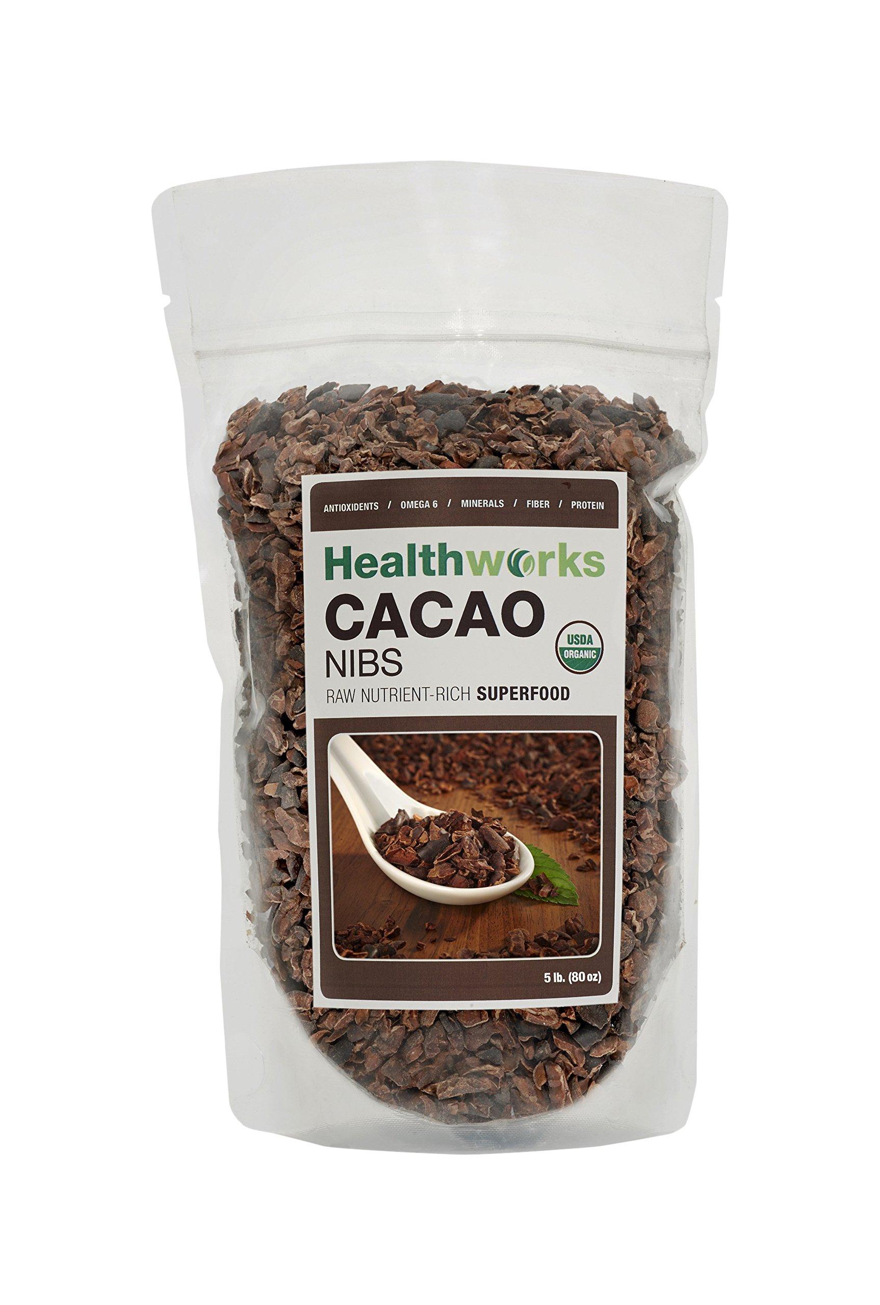 Healthworks Cacao Nibs Raw Organic, 5lb