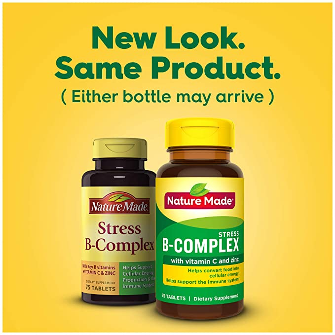 Nature Made Stress B-Complex With Vitamin C & Zinc Tablets - 75 Tablets