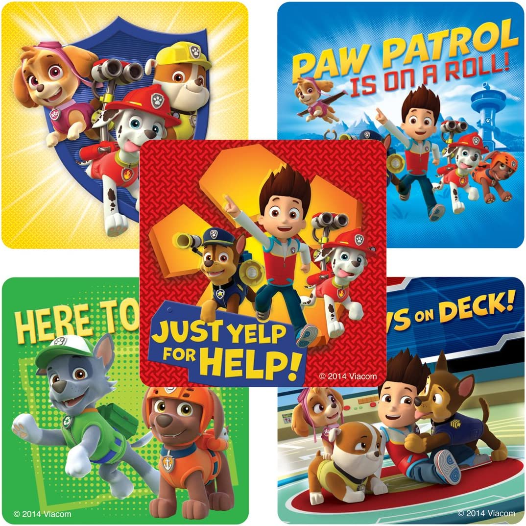 SmileMakers PAW Patrol Stickers - Birthday and Theme Party Supplies - 100 Per Pack