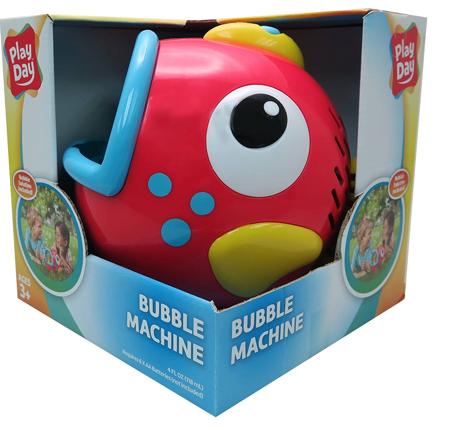 Amazon Play Day Red Fish Bubble Blowing Machine Toy Toys & Games