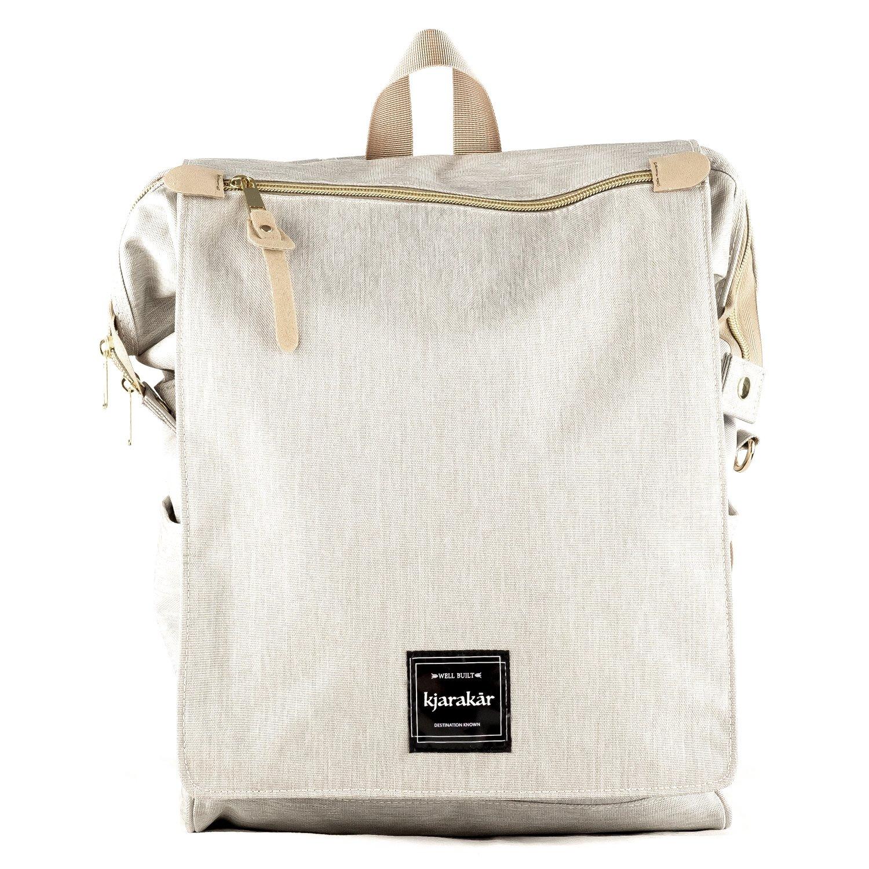 Kjarakär Backpack Best Gift Women, Girls. Commuter Bag, School & Laptop Bookbag, Laptop Bag, Great Diaper Bag Too! TSA Friendly | Waterproof (Light Grey)