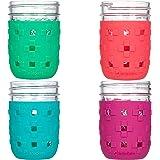 JarJackets 硅胶梅森罐防护袖 - 适合 226.8g 常用的嘴唇果冻罐 多种颜色 43235-166705