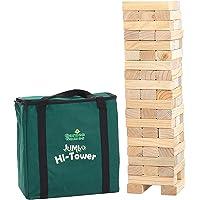 Garden Games Riesenwackelturm Jumbo Hi-Tower in einer Tasche - Builds Von 0.6m - 1,5m (max im Spiel. Massiver Kiefer Holz Wäschetrockner Tower Spiel