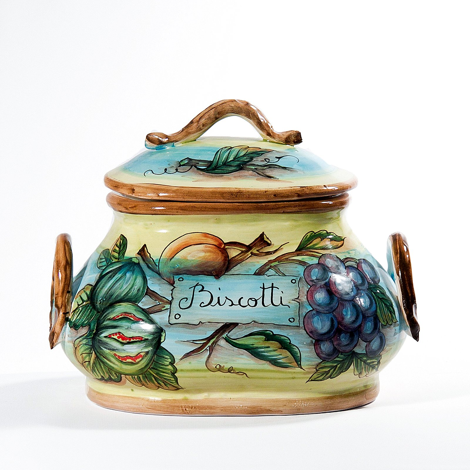 Biscotti Fruits Accent Jar by Intrada Italy