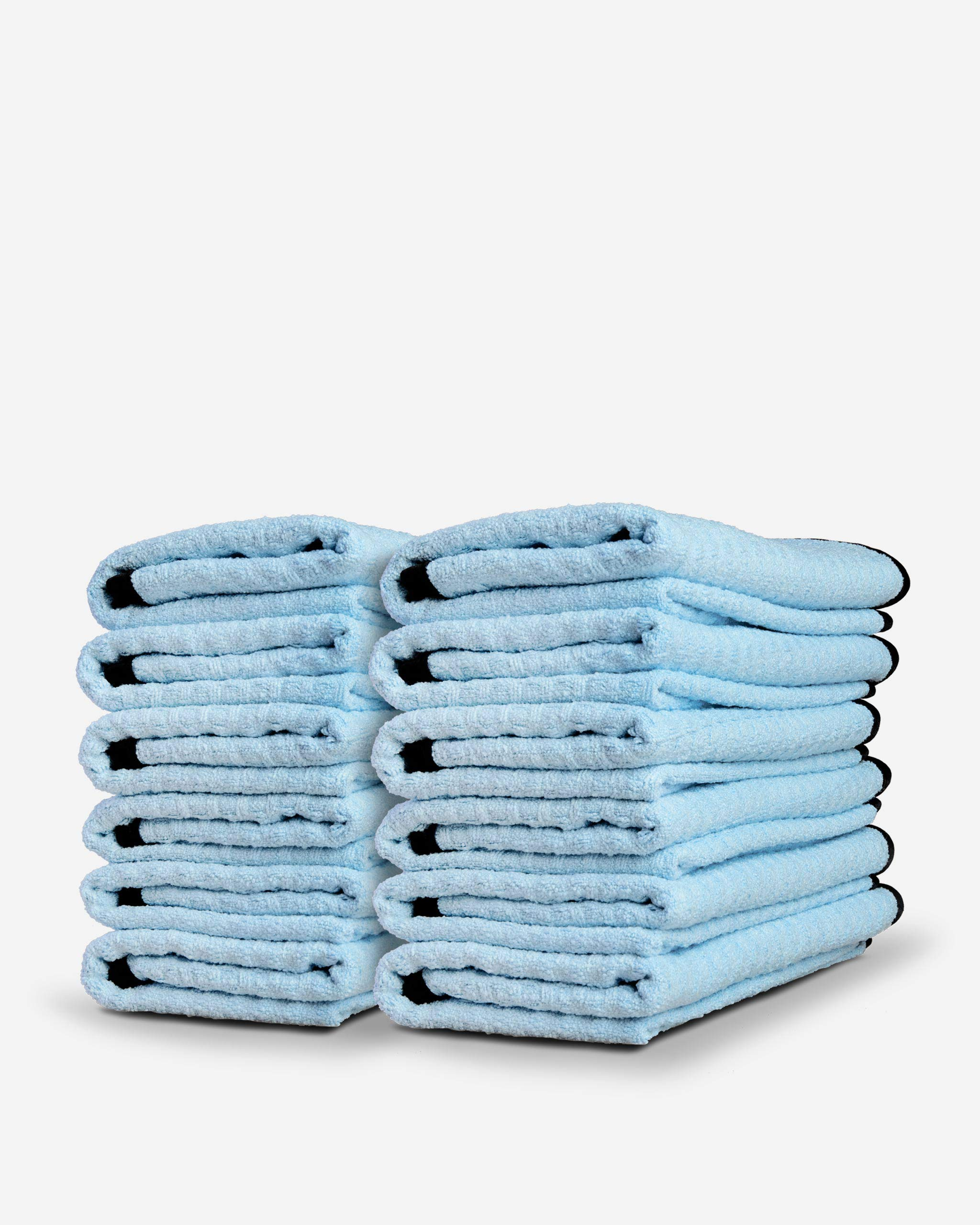 Adam's Waterless Wash Microfiber Towel - Waffle Weave Design Traps Dirt & Safely Cleans Your Car, Boat, RV, Truck, and More - Dries, Cleans with Waterless Wash System (12 Pack)