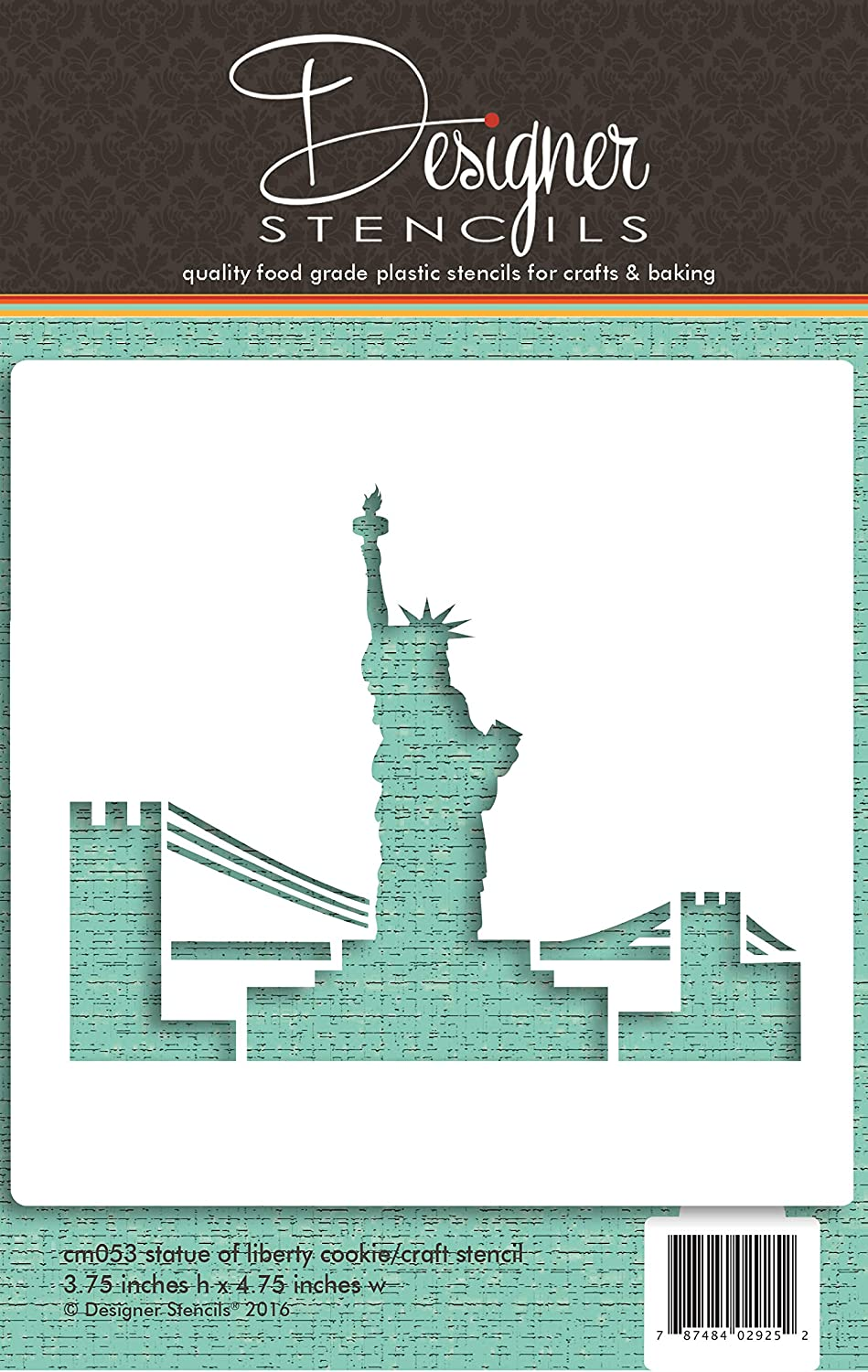 Statue of Liberty Cookie and Craft Stencil CM053 by Designer Stencils