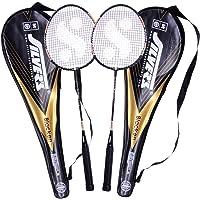 Silver's Blacken 2 Racquets with Cover Badminton Racquet
