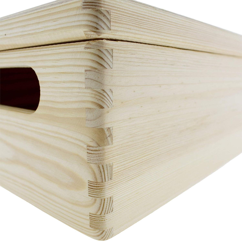 Holzkiste mit Deckel zur Geburt Geschenk zur Geburt personalisiert Erinnerungskiste Baby Memory Box Individuell graviert mit Namen Geburtsdatum Erinnerungsbox Baby Gewicht und Gr/ö/ße