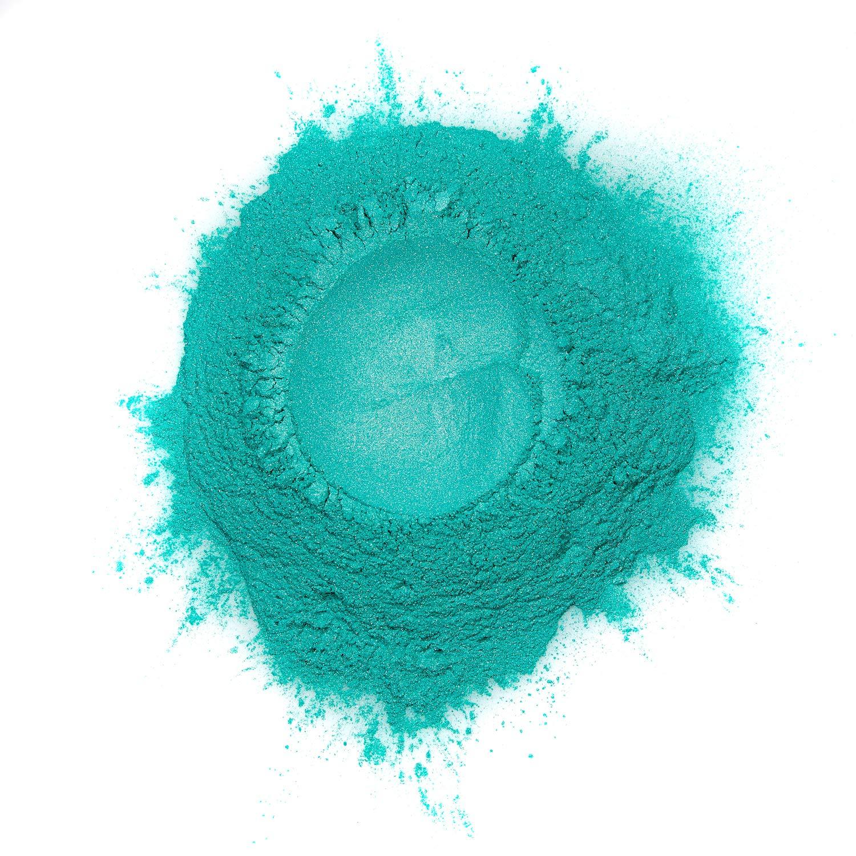 Hemway Mica Pigment Colour Powder Cosmetic Soap Bath Bomb Eyeshadow Nail Art Sparkle Eye Shadow Bath Bombs Pearlescent Foundation Iron Oxide (3.6oz / 100g, Metallic Jade Green)
