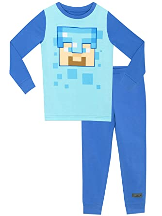 603a5666d2 Minecraft - Pijama para Niños Steve - Ajuste Ceñido  Amazon.es  Ropa y  accesorios
