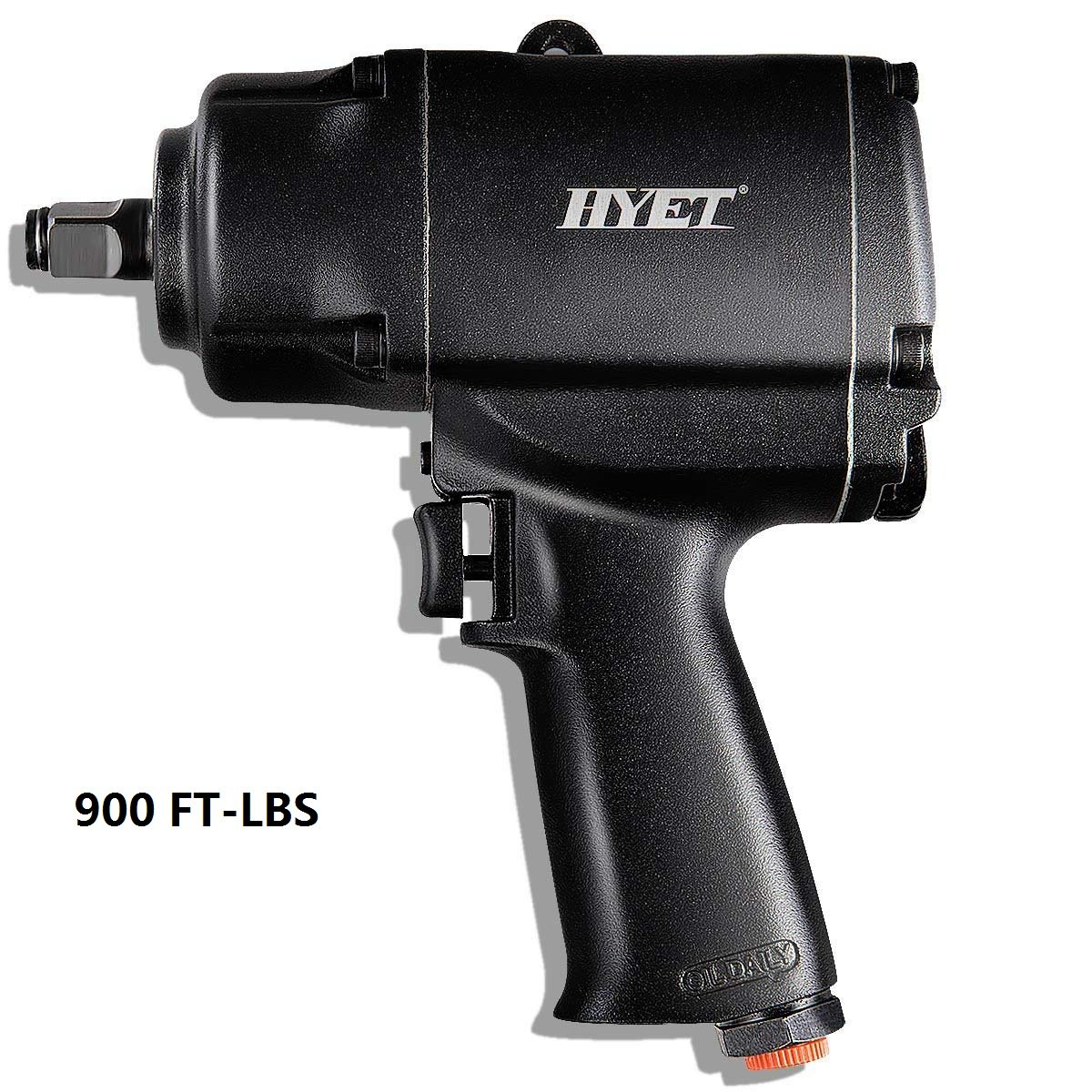 Goplus 1/2-Inch Air Impact Wrench 900 ft-lbs Heavy Duty High Torque Twin Hammer Pneumatic Tools, Black