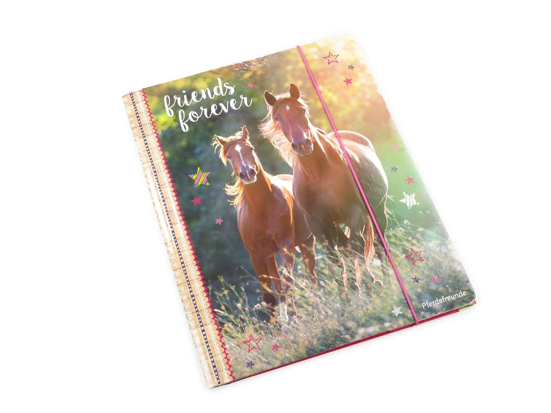 Horse Friends - Carpeta A4 con elásticos, 24x 31cm, modelo 12953 Spiegelburg SPKNG12953