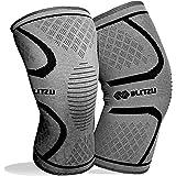 BLITZU Knee Compression Sleeve for Men & Women – Best Knee Brace Support for Running, Gym, Workout, Fitness…