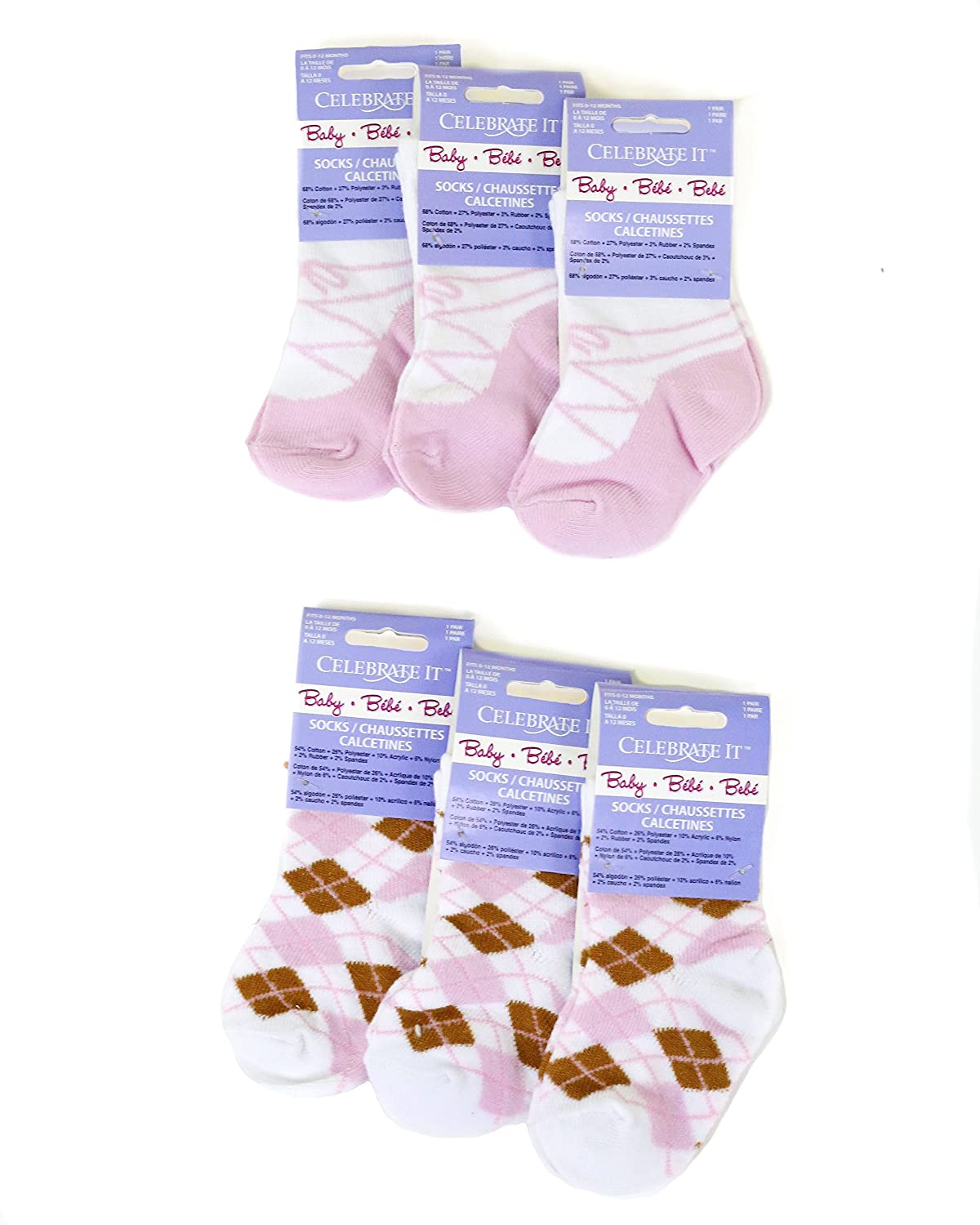 Amazon.com: Baby Girl Socks, Durable, Kick Proof, Fit 0-12 Months, 6 Pairs Per Pack, Warm, Cozy: Baby