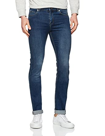 Cheap Monday Tight Indigo Blue Jeans Uomo