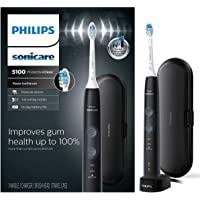 Philips Sonicare ProtectiveClean 5100 Gum Health, Rechargeable Electric Toothbrush with Pressure Sensor, Black HX6850/60…