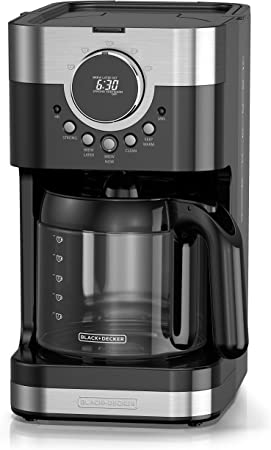 Black & Decker CM4200S-LA Cafetera Programable 12 Tazas, Color Negro