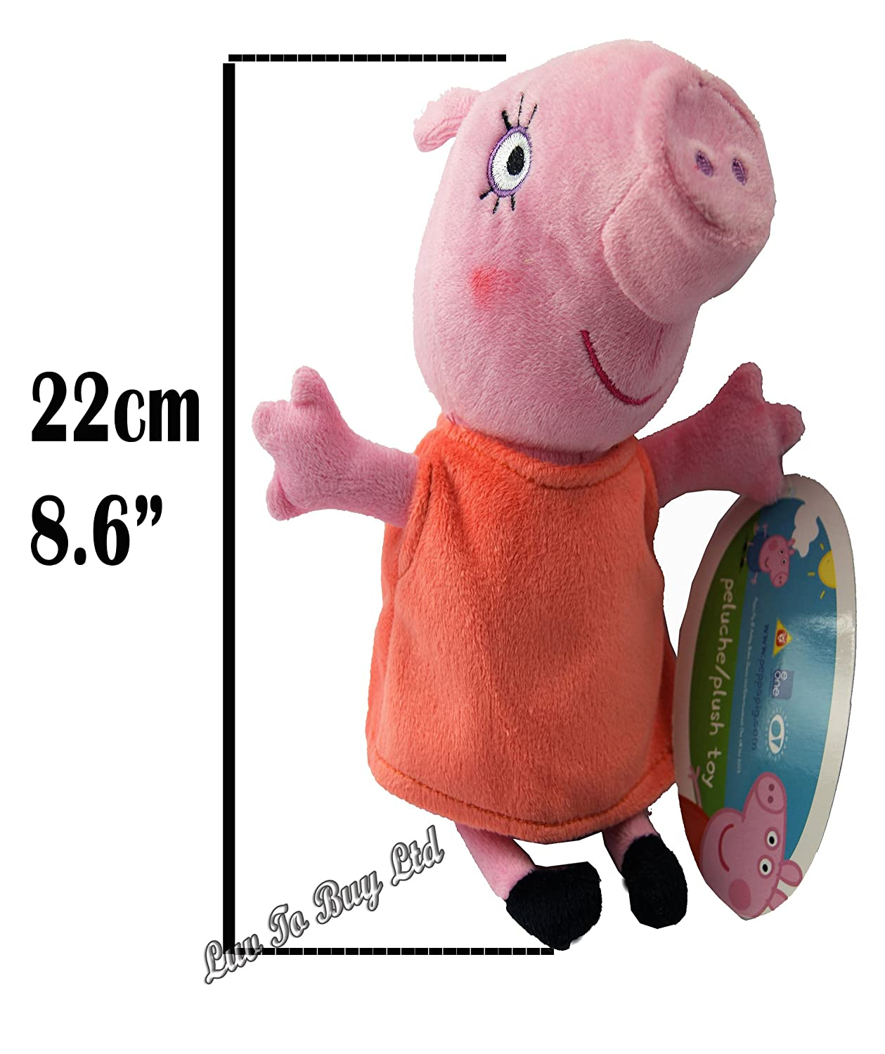 Amazon.com: Adorable Original Peppa Pig Family & Friends Plush Toys, 8 Different Characters,8 assorted peppa pig soft toy (Mummy Pig): Toys & Games