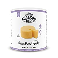 Augason Farms Cheese Blend Powder Certified Gluten Free Long Term Food Storage Everyday Meal Prep Large Can