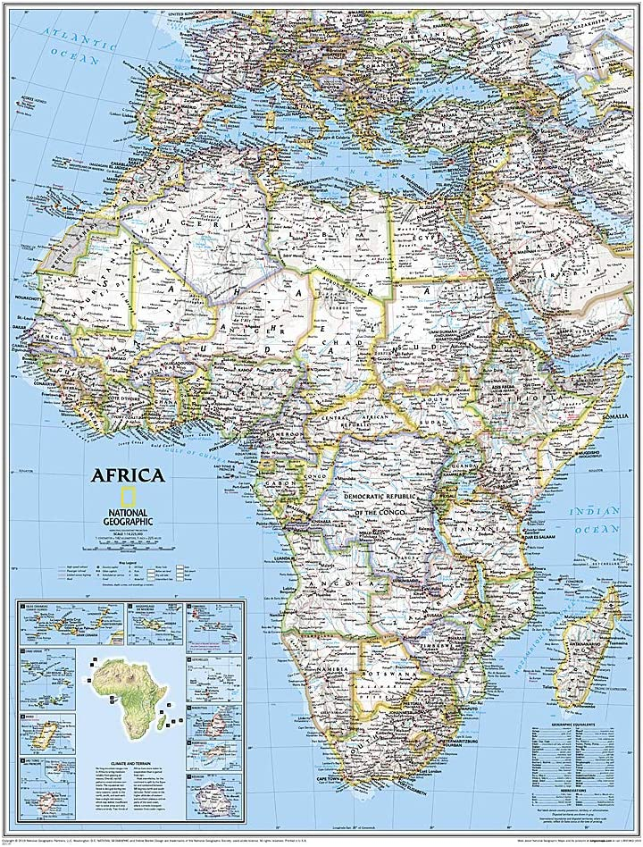 Map Of Africa National Geographic Amazon.com: National Geographic: Africa Classic Wall Map