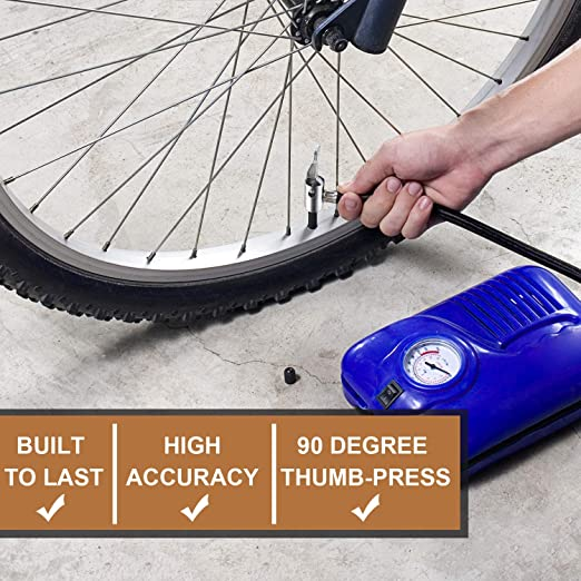 Tyre Hand Air Pump Inflator Replacement Hose Tube Rubber Bicycle Accessory TCUS