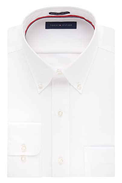 aeb27b06 Tommy Hilfiger Men's Regular Fit Non Iron Button Down Solid: Amazon.ca:  Clothing & Accessories