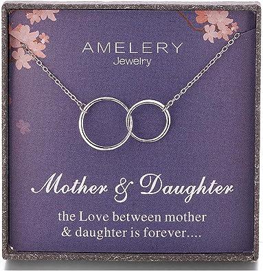 Amazon.com: Amelery Regalos para Madre Daughter Collar ...