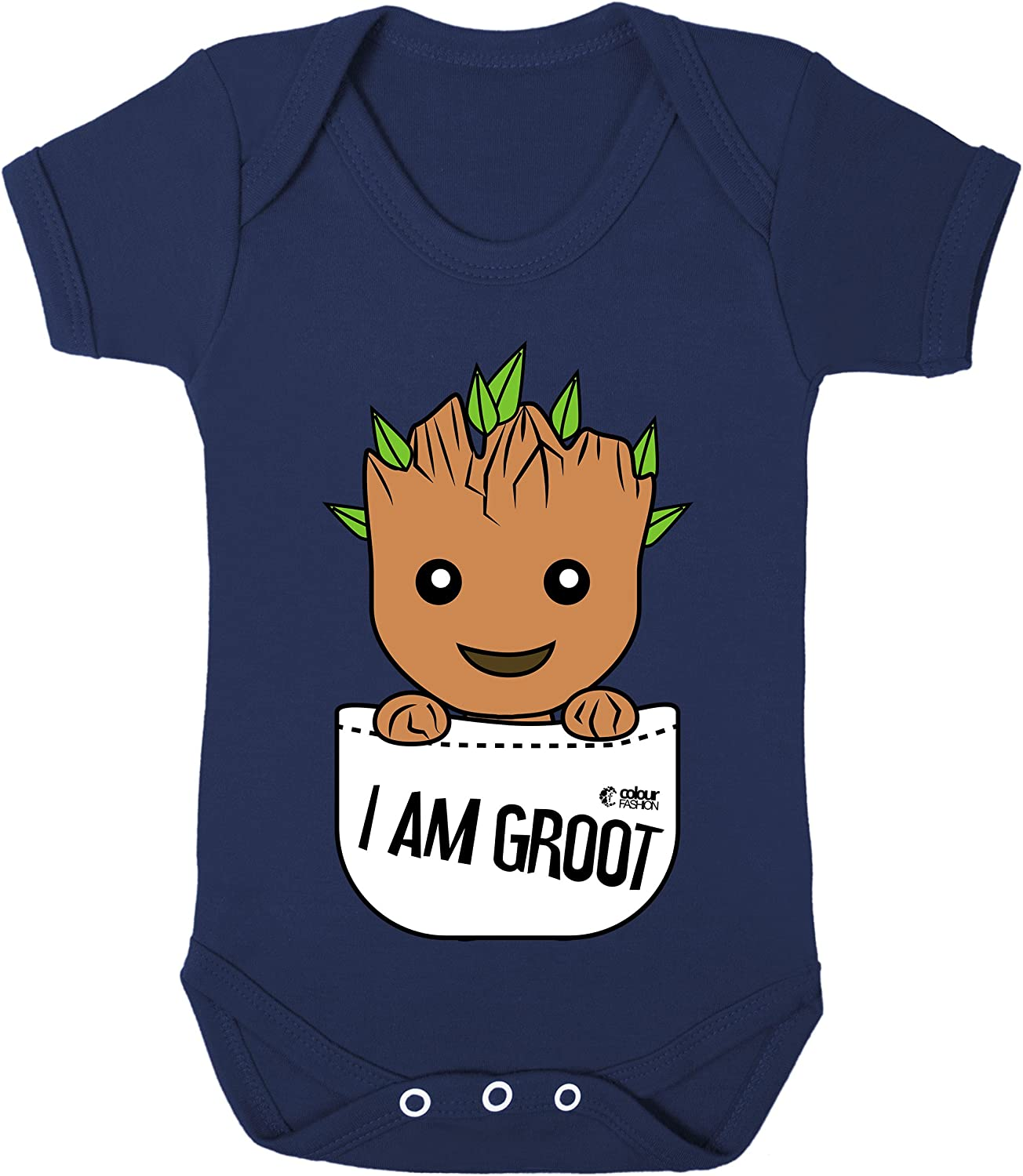 Colour Fashion Groot in The Pocket Superhero Funny Costume Baby Bodysuits 100/% Cotton 0-24