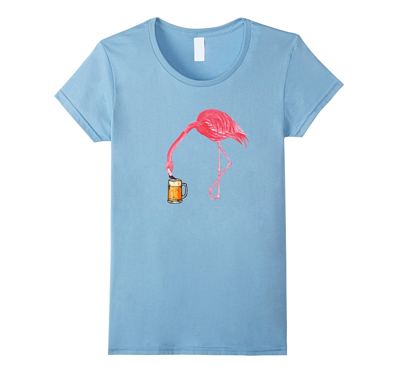 Beer Lover's Flamingo Party T-Shirt-Awarplus