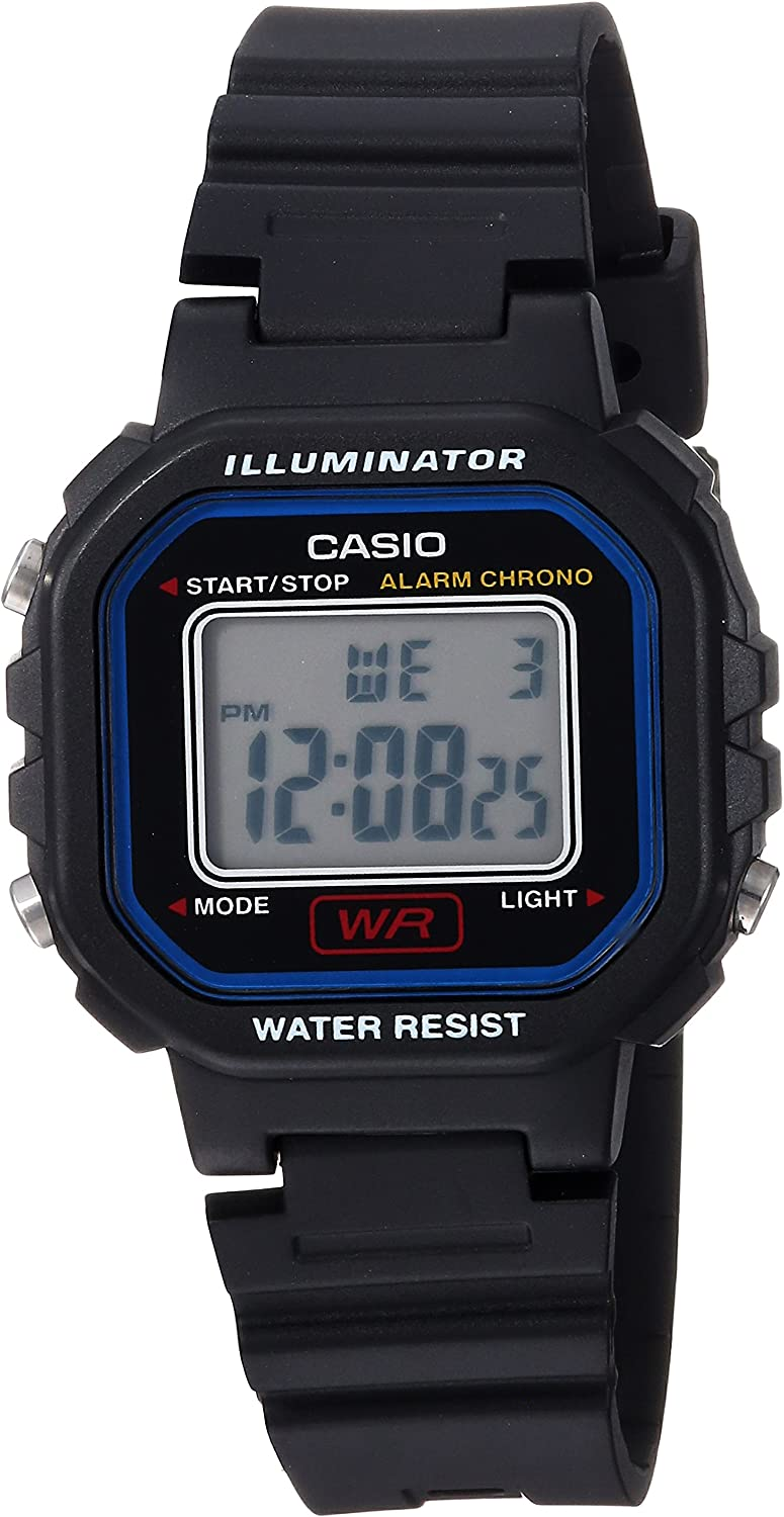 Casio Women's Classic Quartz Watch with Resin Strap, Black, 9 (Model: LA-20WH-1CCF