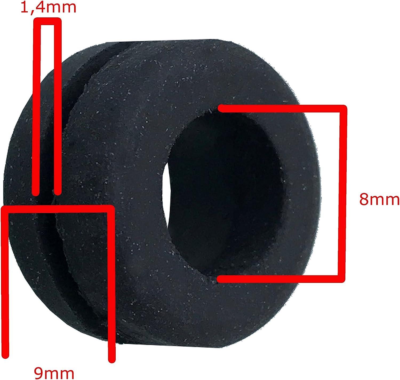 Kabeltülle Gummitülle Kabeldurchführung 8mm Durchführungstülle 10 Stück Exoda Beleuchtung