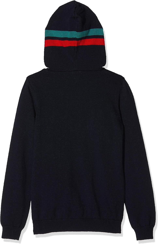 IKKS Junior Jungen Pull Capuche Ml Marine Pullover